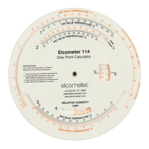 Elcometer 114 Dewpoint Calculator